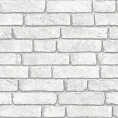 Colours Grey Stone Effect Wallpaper View White Brick Wall Wallpaper details Grey Brick Effect Wallpaper, Brick Wall Wallpaper, Embossed Wallpaper, Wallpaper Gallery, White Wallpaper, Wallpaper Roll, Peel And Stick Wallpaper, Wallpaper Ideas, Wallpaper Samples