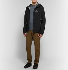 Arc'teryx Zeta Ar Slim-fit Gore-tex Hooded Jacket In Black Gore Tex, Hooded Jacket, Hoods, Trousers, Slim, Mens Fashion, Fitness, Sleeves, T Shirt