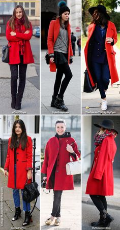 Inspiration: The Red Coat - Blue is in Fashion this Year