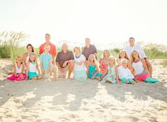 Virginia Beach Extended Family Session - Melissa Bliss Photography - Melissa Bliss Photography Summer Family Portraits, Summer Family Photos, Family Beach Pictures, Beach Portraits, Family Photo Sessions, Beach Photos, Florida Pictures, Summer Pictures, Extended Family Pictures