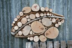 Driftwood Tree slice wall sculpture wall by WildSliceDesigns