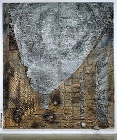 ANSELM KIEFER Die Himmelspaläste, 2002 Oil, emulsion, acrylic and lead objects on lead and canvas 248 x inches x 540 cm) Photo: Tom Powel Anselm Kiefer, Richard Burlet, Gagosian Gallery, Statues, Found Art, Portrait Art, Oeuvre D'art, Les Oeuvres, Modern Art
