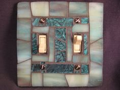 Mosaic Switch Plate  Somehow I see this in a bathroom . . . hmmm.