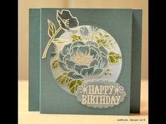 Birthday Blooms Shadow Box Card - JanB UK Stampin' Up! Demonstrator Independent - YouTube