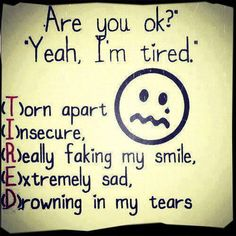 What some people should learn when I say I'm tired