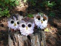 How to make a Pompom Owl. I can use this technique to make pompom elmos & cookie monsters!