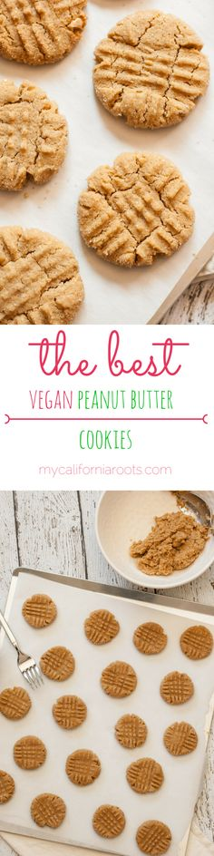 The BEST vegan peanut butter cookies out there. Easy & delicious dessert for any time of year.