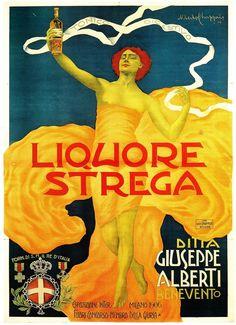 Vintage Italian Posters ~ Liquore Strega, 1906, Chappuis #illustrator #vintage #italian #posters