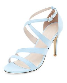 Pale Blue Strappy Heels | New Look