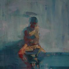 "Mark Horst, ""J.I. with Hand on Head"" 24x30"" oil on canvas 2009    artoutthere.blogspot.com"