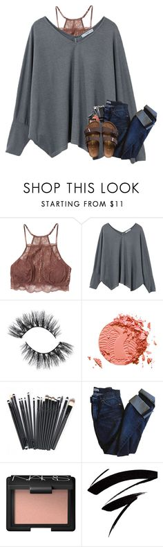 """first set:)"" by maddie-likes-summer ❤ liked on Polyvore featuring Eberjey, MANGO, tarte, Acne Studios and Birkenstock"