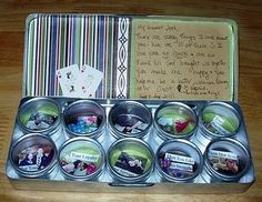 """""""Tin"""" things I love about you....each one is a picture and note naming 10 thing you love about HIM!!!"""