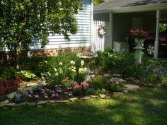 beautiful whimsical gardens   The Country Diary of a Southern Lady: A Beautiful Porch and Garden