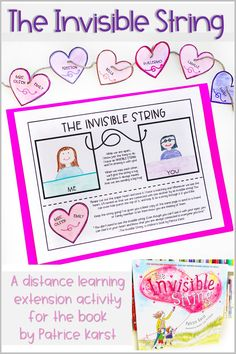 "Help students feel connected with their class and loved ones during distance learning and social distancing! This is an extension activity to go along with the story ""The Invisible String"" by Patrice Karst. Details on TpT. Counseling Activities, Writing Activities, Math Literacy, Literacy Centers, Autism Teaching, Read Aloud Books, School Social Work, Coping Skills, Life Skills"