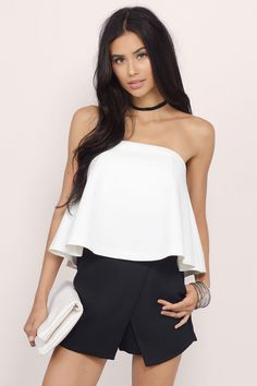 Designed by Tobi. The Better Than Expected Tube Top is tailored and easy with a simple zip up back closure. Slightly cropped for a flowy look, this piece is adorable and charming. Match it with your favorite boyfriend jeans for the day out. . Get 50% off your order when you join Tobi.com