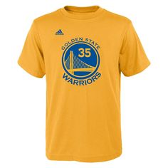 c46182f6725 Kevin Durant Golden State Warriors  35 NBA Boys Name and Number Jersey T- shirt