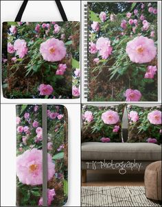Gifts,to clients.  Photo property of,TJS-Photography.  #gifts #presents #clients #customers #totebag #bag #spiralnotebook #notebook #iphonewallet #wallet #throwpillow #pillow #couch #decor #home #travel #memories #interior #design #livingroom #lifestyle #pink #pinkflowers #green #earth #cottage #country #garden #blogger #visualart