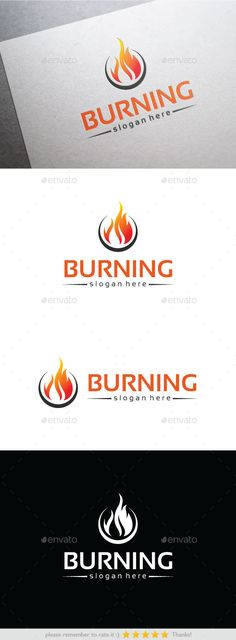 Burning - Logo Design Template Vector #logotype Download it here: http://graphicriver.net/item/burning/10357231?s_rank=1251?ref=nexion