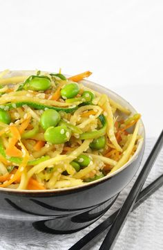 5 Minute Low-Carb Noodles #vegan #low #carb #noodles #flamous #recipe