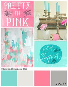 pretty in pink and sea of aqua finally found the 2 coordinating colors for Chloe& aqua & pink bedroom! The post lori weitzel pink aqua 052411 appeared first on Trendy.