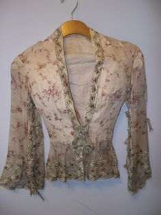 Vintage Clothing For Women | women s floral ribbon jacket antique clothing vintage jackets vintage ...