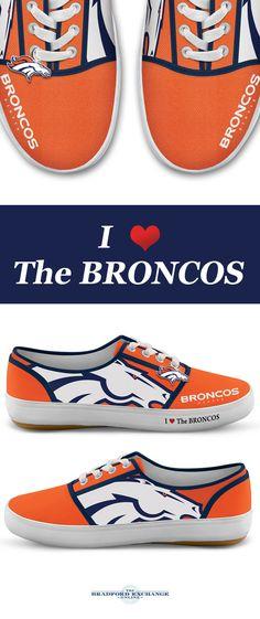f6764ce0616fe2 NFL-Licensed Denver Broncos Women s Canvas Sneakers