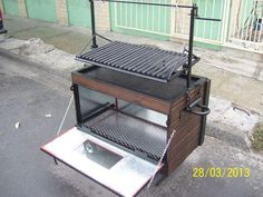 rocket stove and grill Grill Design, Küchen Design, Custom Bbq Grills, Diy Grill, Grill Station, Steel Fabrication, Smoke Grill, Rocket Stoves, Grill Master