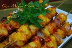 Cape Town and Cape Malay Chicken Sosaties - My Easy Cooking Braai Recipes, Kebab Recipes, Spicy Recipes, Chicken Recipes, Healthy Recipes, South African Dishes, South African Recipes, Ethnic Recipes, Malay Food