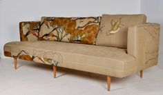 Casamento, a furniture craft studio from Cape Town, turns reclaimed vintage couches and chairs into amazing pieces of art like this one. Couch Furniture, Furniture Making, Couch Sofa, Antique Furniture, Take A Seat, Love Seat, Enchanted, Style Me Pretty Living, Cool Chairs