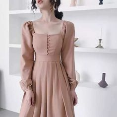 119 ideas about the black dresses make us look simple and elegant – page 3 Vintage Dresses, Vintage Outfits, Vintage Fashion, Modern Victorian Fashion, Pretty Dresses, Beautiful Dresses, Hijab Fashion, Fashion Dresses, Modest Fashion