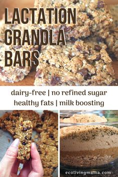 These lactation granola bars boost my milk supply like crazy! They are full of healthy fats have no refined sugar PLUS they taste amazing. These contain a bunch of milk-boosting foods like oats brewers yeast hemp seeds flax meal and almonds. Breastfeeding Snacks, Pregnancy Foods, Increase Milk Supply, Boost Milk Supply, Breakfast Food List, Healthy Chocolate, Chocolate Granola, Granola Bars, Baby Food Recipes