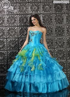Quinceanera dress ~ Quinceanera dresses from Q by Davinci #quince XV años