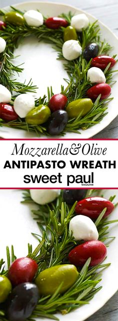 A simple way to make a savory antipasta into a festive holiday treat!