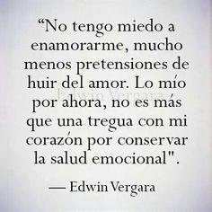 Imagen de fall in love, frases, and heart Edwin Vergara, Love Phrases, Love Hurts, Love Images, Falling In Love, We Heart It, Sad, Mindfulness, Fan Art