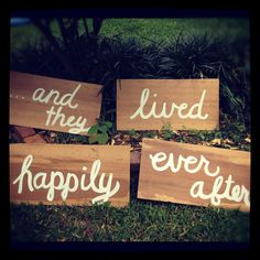 Cute signs, for pictures and for the cake table? Made these before really easy and very cute :) Ash