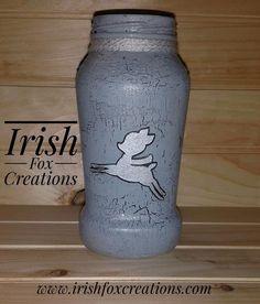 Winter Jar Lights,  recycled winter home decor from Irish Fox Creations