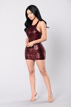 Bright Future Dress - Burgundy