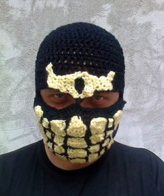 Mortal kombat Hat Scorpion Hat Crochet Scorpion by paintcrochet