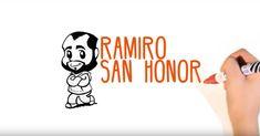 Testing animation Ramiro San Honorio. Video writting. Sketch hand animation.