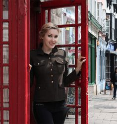 I have this thing about English phone booths lololol from video. I'm wearing Elsa inspired updo from video https://www.youtube.com/watch?v=Lt3bPnMhvfU about my vacation and hairstyles in England :)