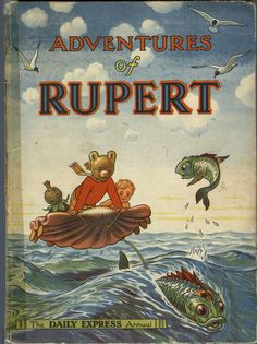 Rupert Annual 1950 written and illustrated by Alfred Bestall. Always there was a Rupert Annual under the Christmas Tree, which added to the wonder of Christmas. Old Children's Books, Vintage Children's Books, Good Books, My Books, Garden Of Words, Paddington Bear, Animal Books, Childhood Memories, Childrens Books