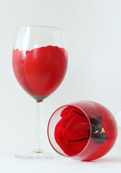 Hey, I found this really awesome Etsy listing at https://www.etsy.com/listing/234760139/hand-painted-wine-glasses-poppies-red