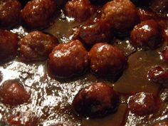 grape jelly, bbq sauce, jack daniels and frozen meatballs