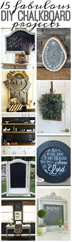 15 Fabulous DIY Chalkboard Projects - House by Hoff