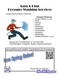 pressure washing flyers