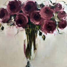 Burgundy Blomme 100x100cm Oil on cotton/linen blend #blomme #roses #burgandy #oilpainting #painting #instalike #instagram #instadaily #instamood