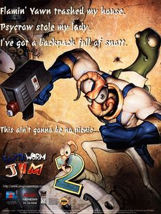 Earthworm Jim crawls back to the surface for more fun. #gaming #bitstory