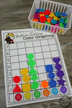 Kindergarten Graphing activity - Math ideas for kids. #kindergartenmath #measurement #graphing #graphingworksheets