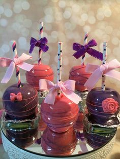 Custom colored hard candy apples perfect for any event by KLDesserts, $3.50