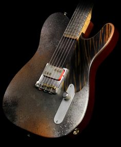 Used 2011 John Bolin Billy Gibbons Chambered Broadcaster Electric Guitar Speckled Gray